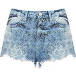 Topshop MOTO Folk Embroidered Hotpants