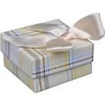 Rudorfer Dárková krabička na náušnice Karo žlutá 12610.D2