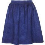 Topshop Denim Look Flippy Skirt