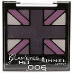 Rimmel London Glam Eyes HD Quad Eye Shadow 2,5g Oční stíny W - Odstín 006 Purple Reign
