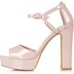 Topshop LENA2 Patent Platform Sandals