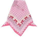 Růžový hedvábný šátek s mašličkami Fraas