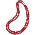 Oliver Weber Náhrdelník Perlen Combi Dark Coral Red 4332-DRED