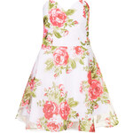 Topshop **Rose Print Sweetheart Prom Dress by Rare