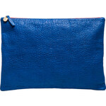 Clare Vivier Oversized Laptop Clutch in Blue