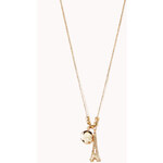 Forever 21 Parisian Chic Charm Necklace