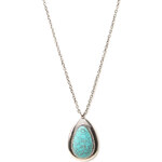 Forever 21 Heirloom Faux Stone Pendant Necklace