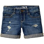 Gap 1969 Rip & Repair Denim Midi Shorts - Denim