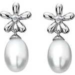 Hot Diamonds Náušnice Diamonds & Pearls Flower Drop DE297