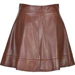 Michael Kors Leather Circle Skirt