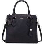 Dámská kožená kabelka Nucelle Hannah - černá