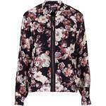 Topshop Blurred Flower Bomber Jacket