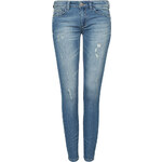 Tally Weijl Blue Skinny Jeans with Rip & Turn Up