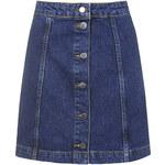 Topshop TALL Denim Button Front Skirt