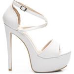 KOI Nevšední bílé sandály na vysokém podpatku - XD1WPU / S1-113P