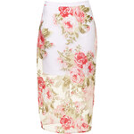 Topshop **Rose Print Sheer Pencil Skirt by Rare