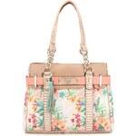Béžová kabelka s květinovým motivem ALDO Hooter