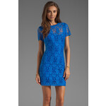 Rebecca Taylor Lace Dress in Blue