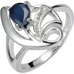 Silvego Stříbrný prsten s přírodním safírem DESIRÉ FNJR0673 53 mm