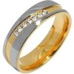 Silvego Snubní ocelový prsten pro ženy MARIAGE RRC2050-Z 52 mm