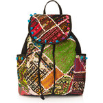Topshop Patchwork Backpack