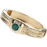 Topshop Green Stone Engraved Bracelet