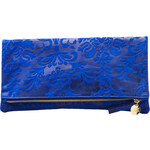 Clare Vivier Foldover Clutch in Blue