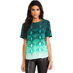 Equipment Riley Fading Blouse in Green