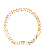 """Luv AJ x REVOLVE """"10"""" Engraved ID Necklace in Metallic Gold"""