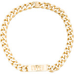 "Luv AJ x REVOLVE ""LOVER"" Engraved ID Necklace in Metallic Gold"