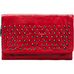 Yosi Samra Blair Studded Foldover Clutch in Red