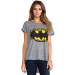 Lauren Moshi Edda Color Batman Vintage Tee in Gray