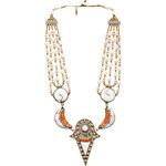 Vanessa Mooney Gypsy Heart Statement Necklace in Orange