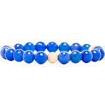 JNB Beaded Bracelet in Blue
