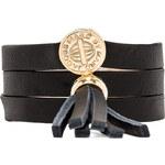 Marc by Marc Jacobs Triple Wrap Leather Bracelet in Black