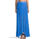 Alice + Olivia Ava High Waist Leather Waistband Skirt in Blue