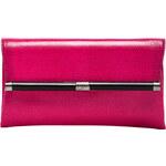 Diane von Furstenberg Envelope Embossed Leather Clutch in Pink