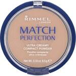 Rimmel Sametový kompaktní pudr Match Perfection 8,5 g 100 Ivory