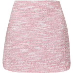 Topshop Boucle Curved Hem Mini Skirt