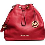 Červená kožená kabelka vak Michael Kors Jules