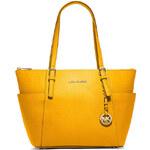 Žlutá kožená kabelka Michael Kors saffiano sun yellow
