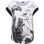Černo-bílé tričko s potiskem ONLY Paisley