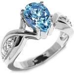 Silvego Dámský stříbrný prsten s topazem FNJR0692-TO 60 mm