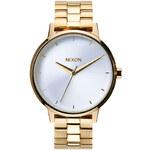Topshop **Nixon Kensington Gold Watch with White Dial
