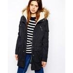 ASOS Faux Fur Hooded Detachable Lined Parka