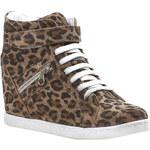 Baťa Dámská kotníčková obuv se vzorem leopardí kůže