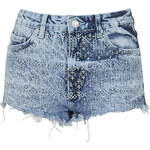 Topshop PETITE MOTO Folk Embroidered Hotpants