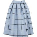 Topshop Grid Print Bonded Midi Skirt