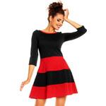 Červeno-černé šaty H10 L
