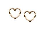 Topshop **Tiny Open Heart Stud Earrings by Orelia